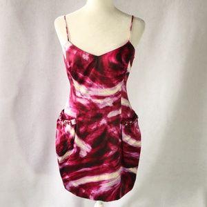 $248 BCBG Maxazria Dress Womens Size 4 Pink Purple